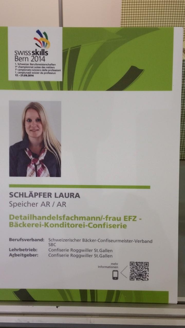 Unsere zweite Kandidatin Laura Schläpfer