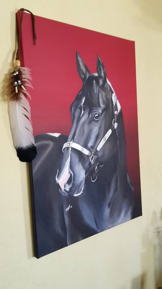 Pferdegemälde Paint Horse von Hufspuren, Hanna Stemke