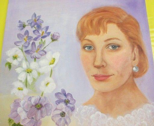 "elegante Dame "" Geraldine""- das fertige Bild  Feb. 2014"