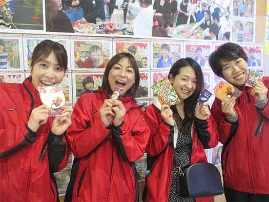 左から 重友選手、坂本選手、柳田さん、中村選手
