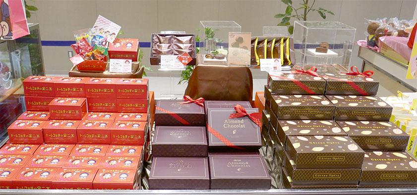 チョコレート製品の数々