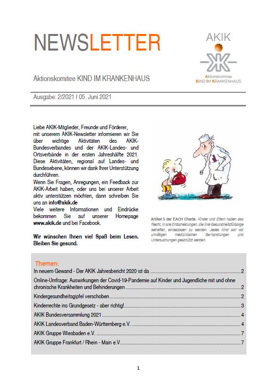 2. Ausgabe des AKIK Newsletter 2021 ist da