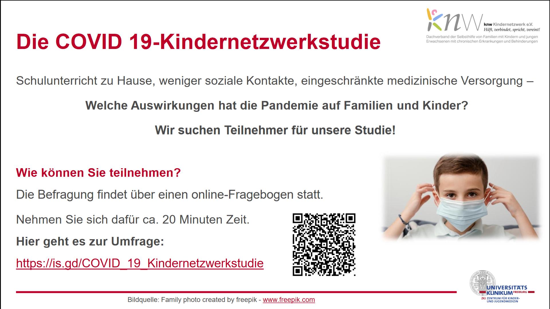 Online-Umfrage: Auswirkungen der Covid-19-Pandemie auf Kinder und Jugendliche mit und ohne chronische Krankheiten und Behinderungen