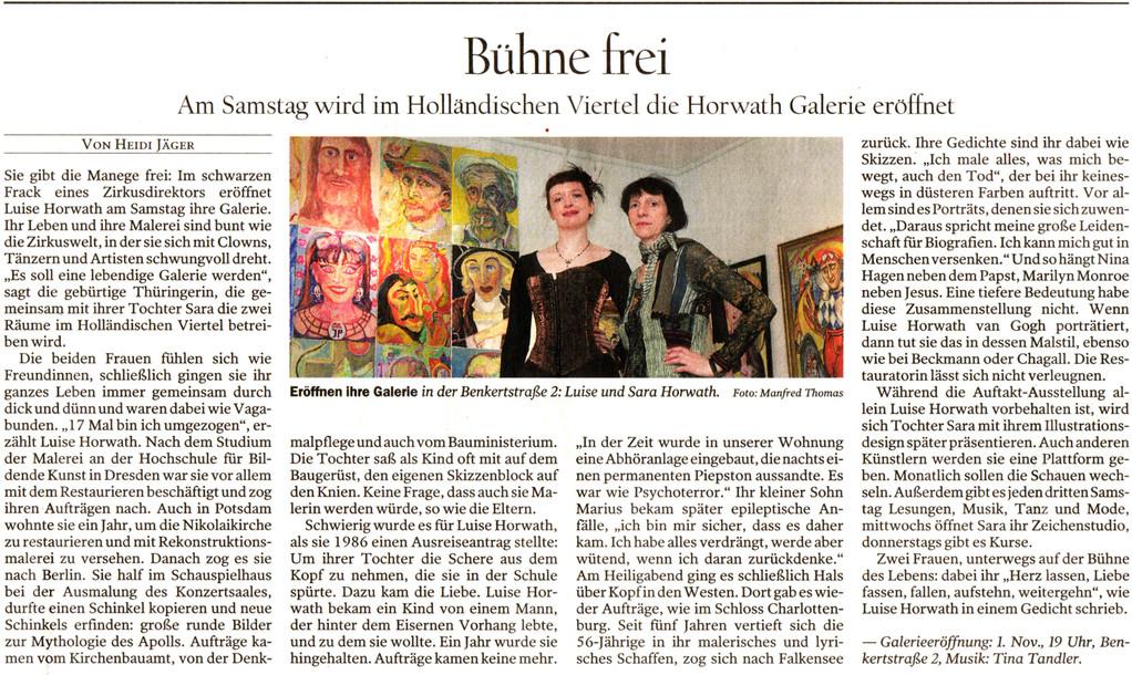 Potsdamer Neueste Nachrichten, Donnerstag, 30. Oktober 2008