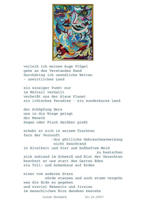 Gedicht und Bild von Luise H.