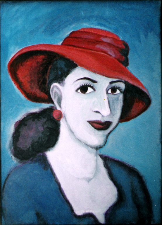 Sara mit rotem Hut