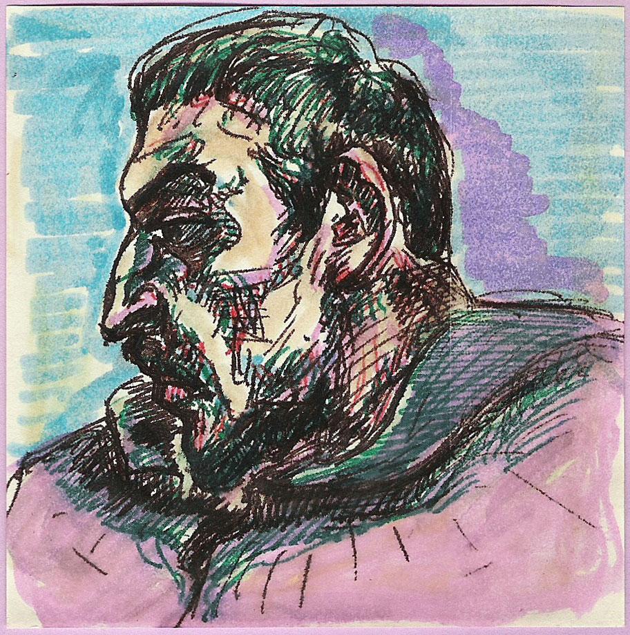 Vorzeichnung zu Paul Gauguin