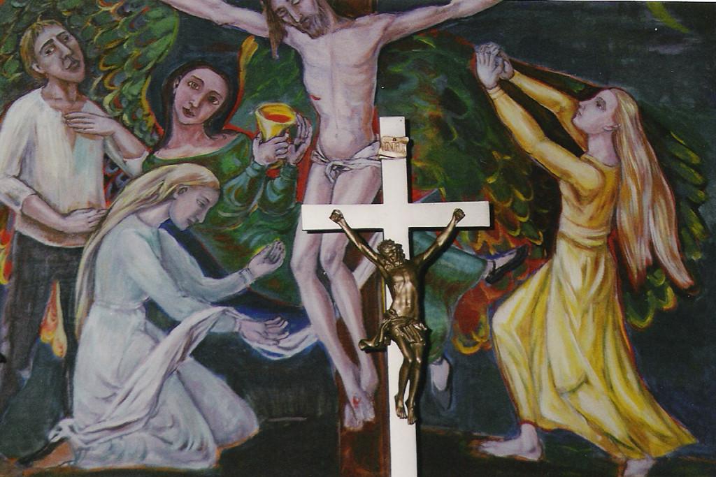 Gollwitzer Altar / Ausschnitt / Gollwitz bei Brandenburg