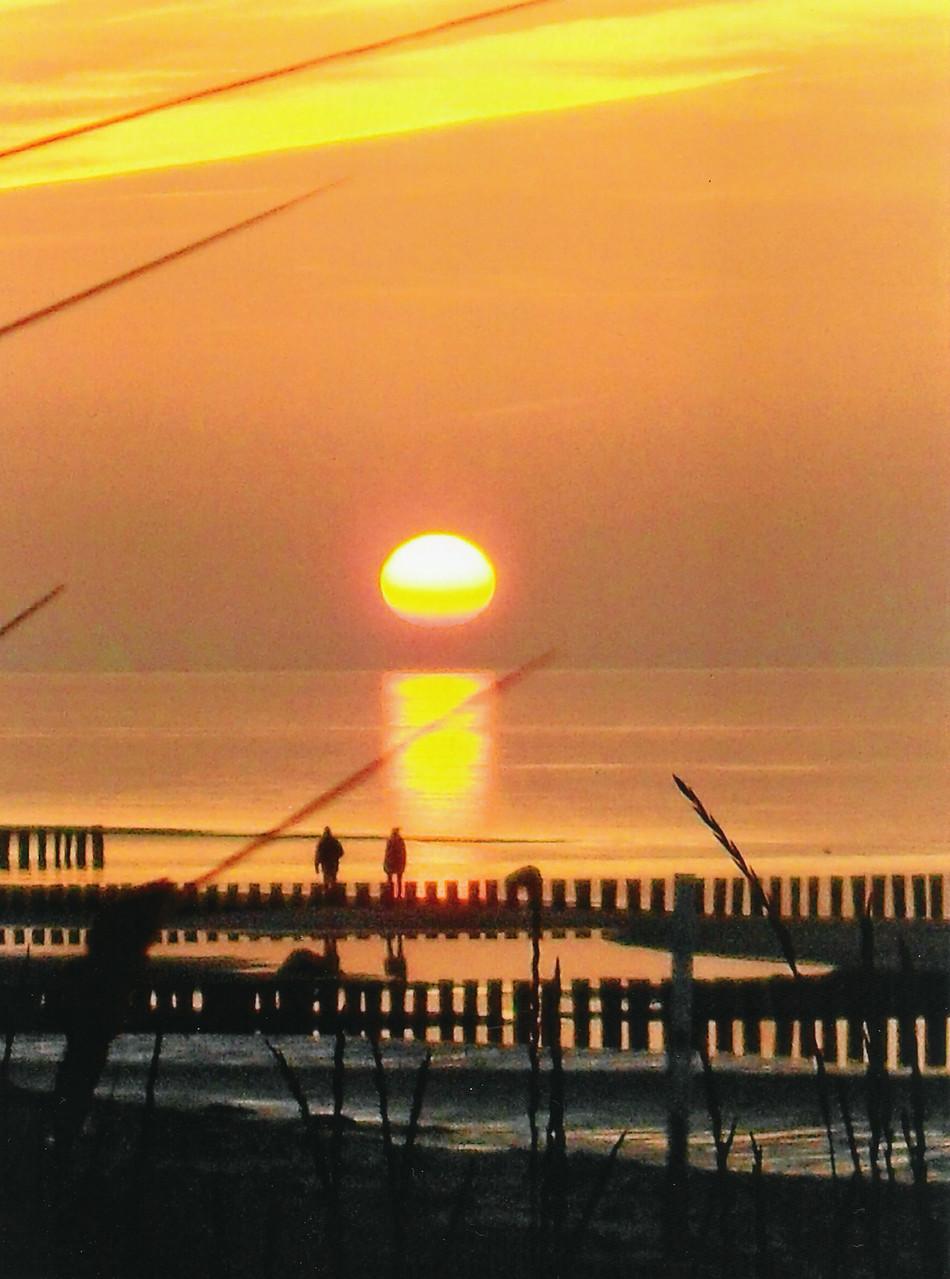 Sonnenuntergang auf Poel / Foto L.H.
