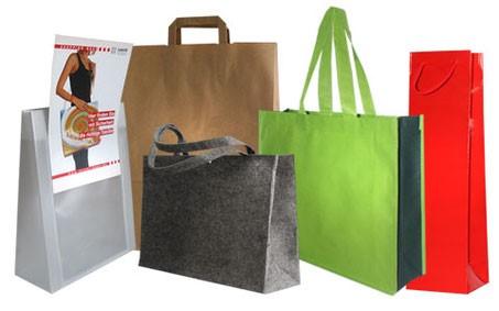 Folien- und Papiertaschen mit Druck