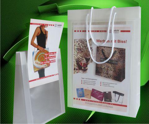 Werbetasche mit Einschubfach Tragetaschen für Prospekte und Fleyer schnelle Lieferung von Leicht Bags