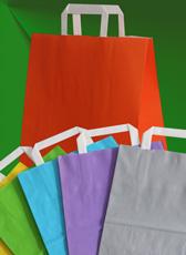 Papiertüten in verschiedenen Farben bedrucken