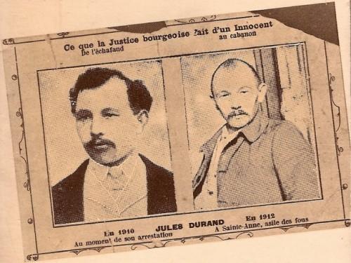 Carte postale adressée à la Présidence de la République par de très nombreux défenseurs de la cause de Durand. 1912
