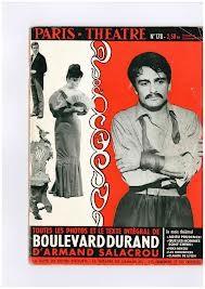 Affiche de la pièce de Salacrou jouée à Paris