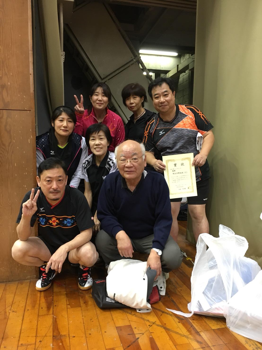 OB-Cチーム リーグ優勝