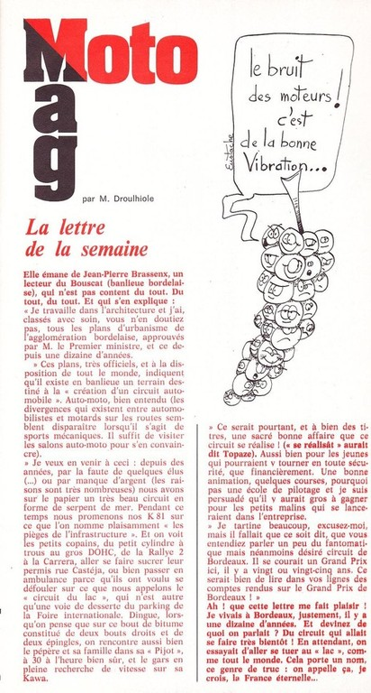 Extrait de Moto-revue N°2305  Février 1977 page 11