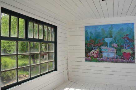 Christy Astuy im Gartenhaus im Schloss Ebenau ©Galerie Walker