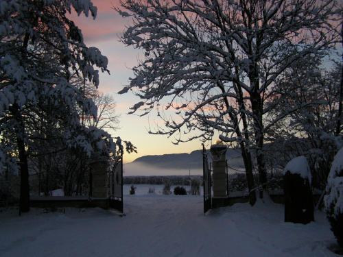 Schlosspark im Schloss Ebenau im Winter ©Galerie Walker