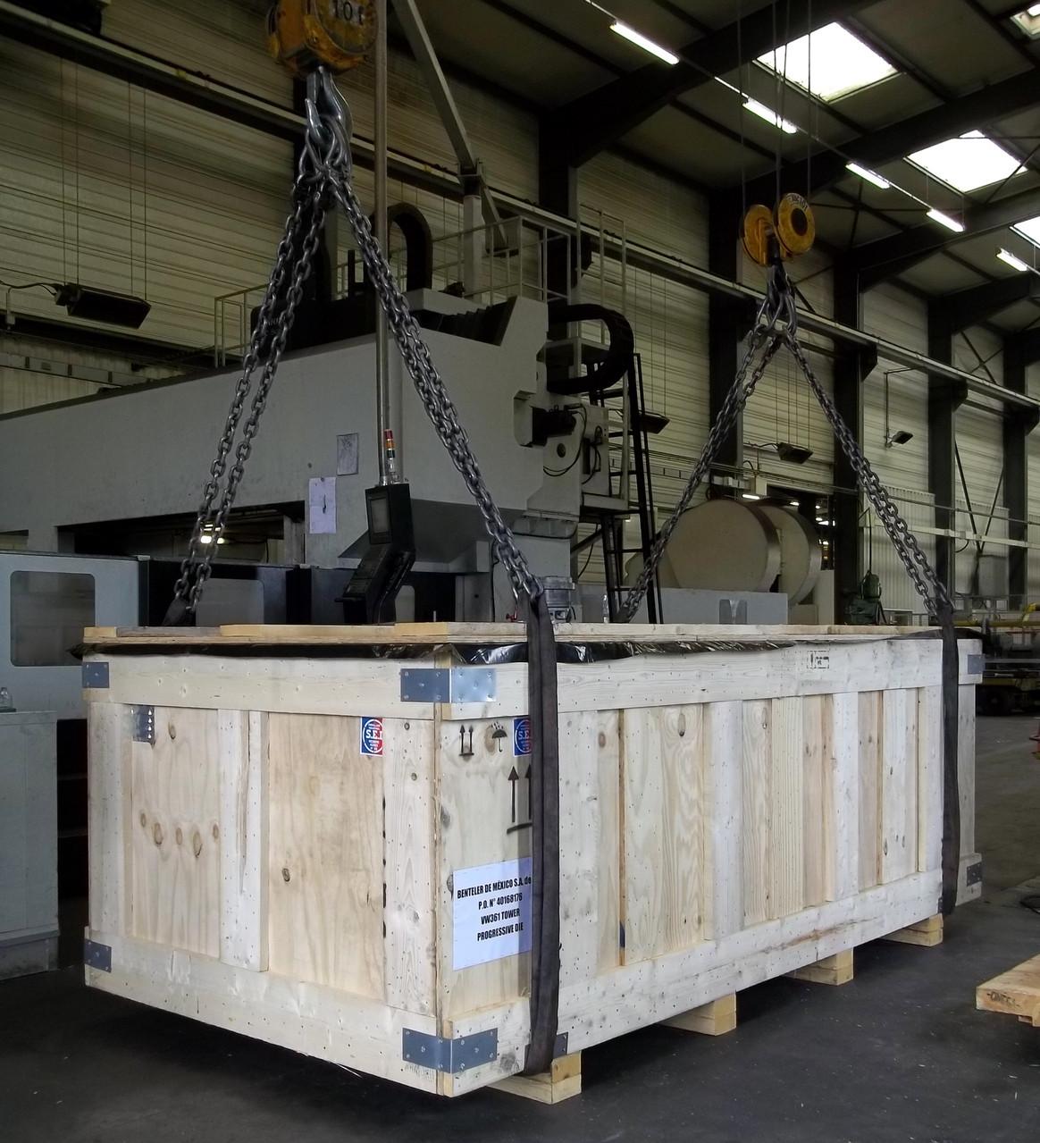 Caisse Grand Export - Mise en container