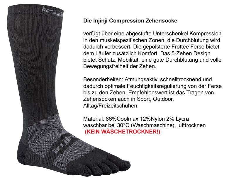Injinji COMPRESSION-BLACK