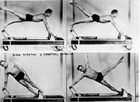 Joseph Pilates trainiert selber auf dem Reformer
