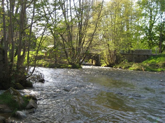 Le Chalaux vu du pont de Chalaux