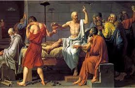 Representación de la muerte de Sócrates