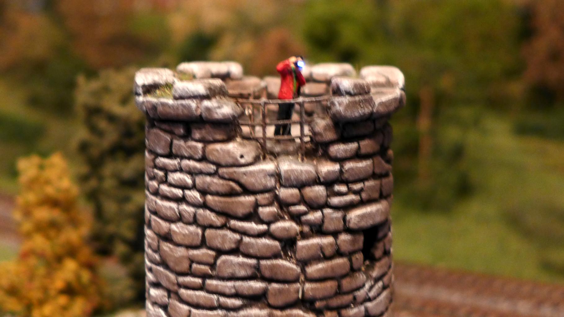 Der Bergfried ist ein beliebter Aussichtspunkt für alle Fotografen
