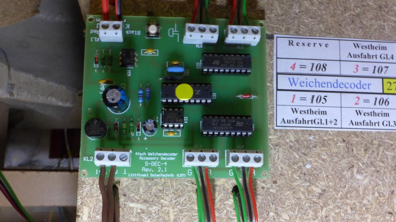 4fach-Weichendecoder von LDT (= Littfinski DatenTechnik)