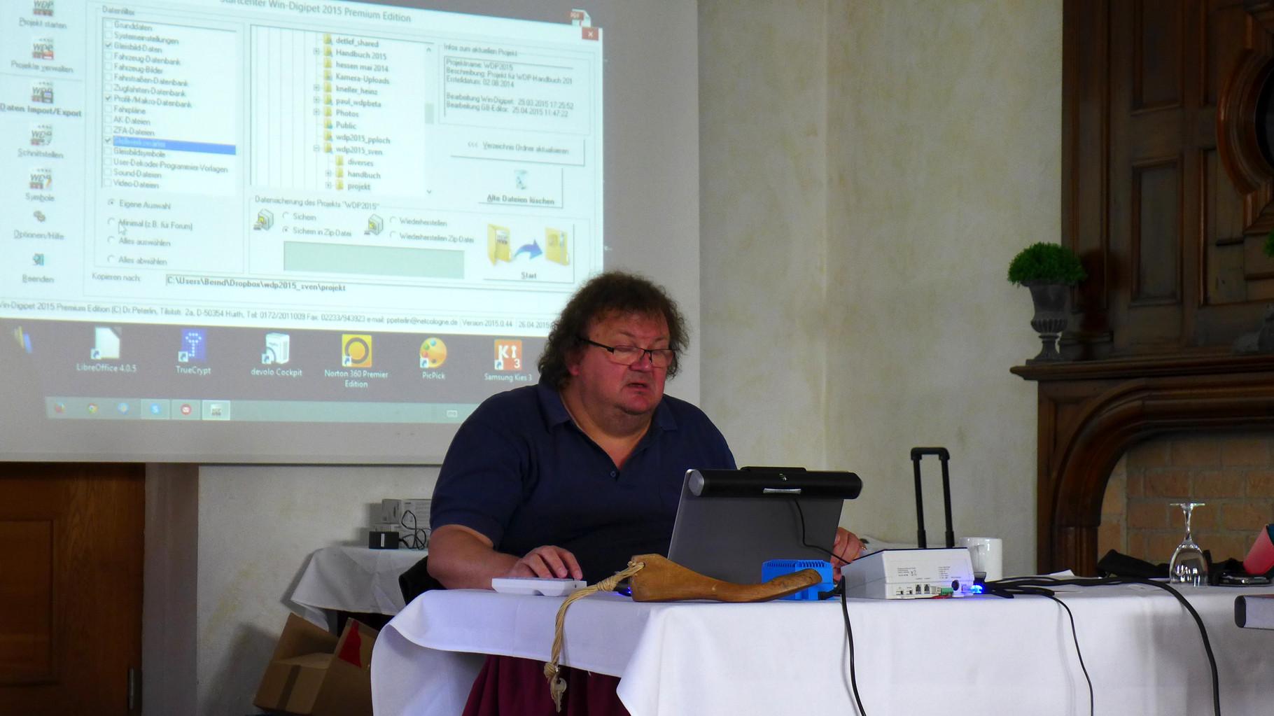 Betatester Bernd Senger stellt das neue Programm vor