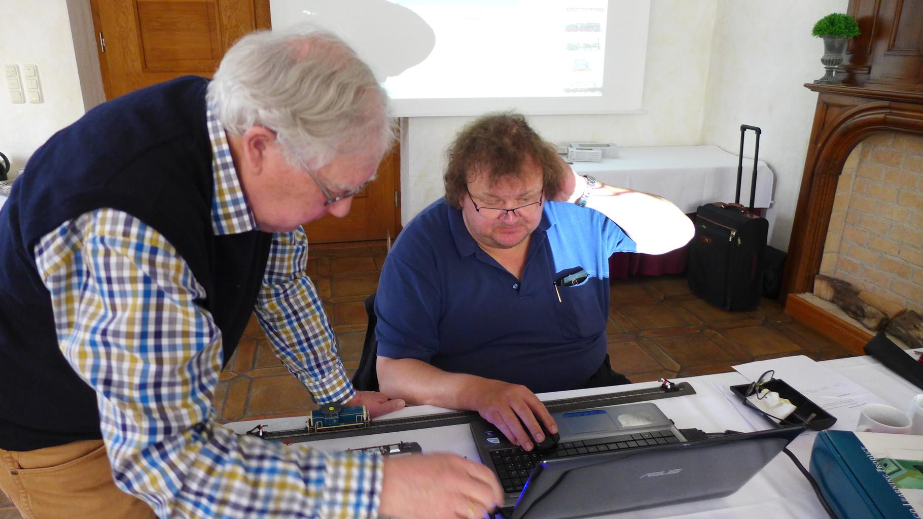 Die beiden Betatester: Wolfgang Elsholz (Augsburg) und Bernd Senger (Berlin)