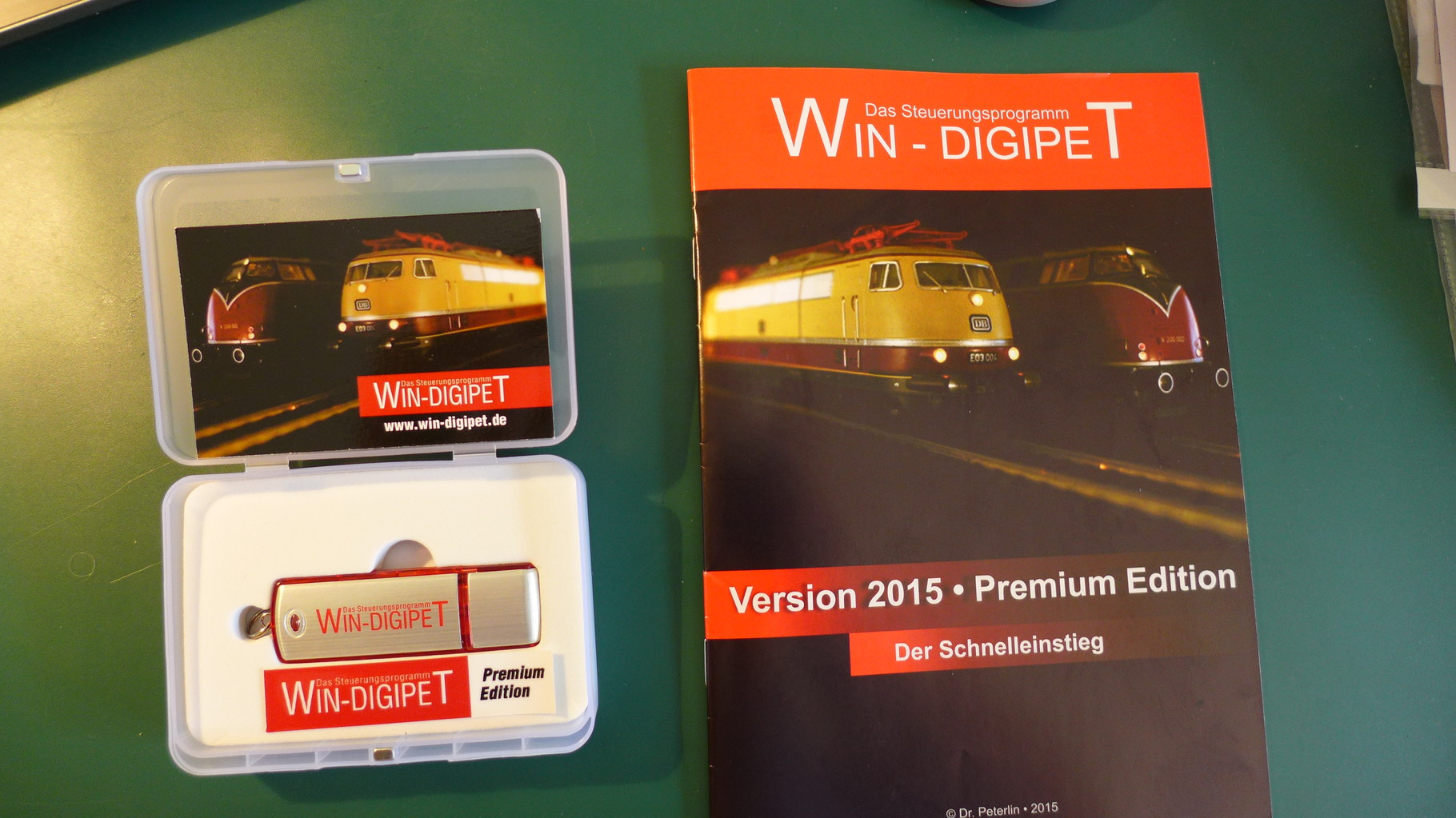 Das Win-Digipet-Programm wird erstmalig auf einem Stick geliefert