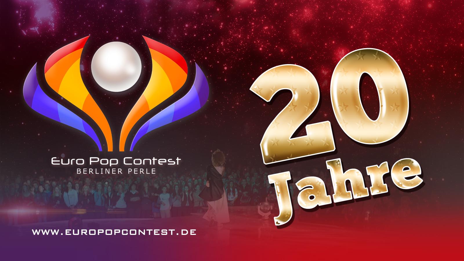 """EPC 2021: Euro Pop Contest Grand Prix """"Berliner Perle wird 20 Jahre alt!"""