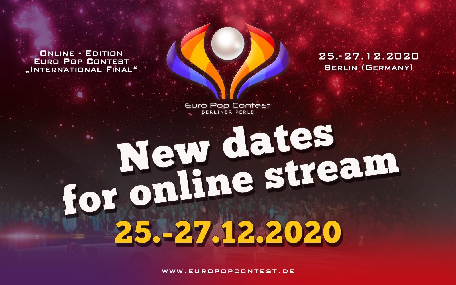 EPC 2020: Verschiebung des Online - Streams