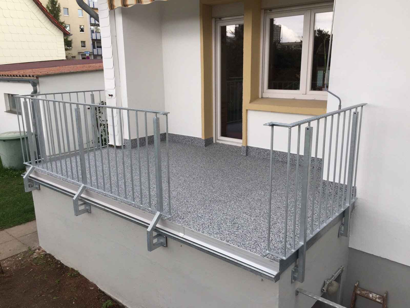 eine Balkonsanierung in Erfurt. Einfach und funktionell