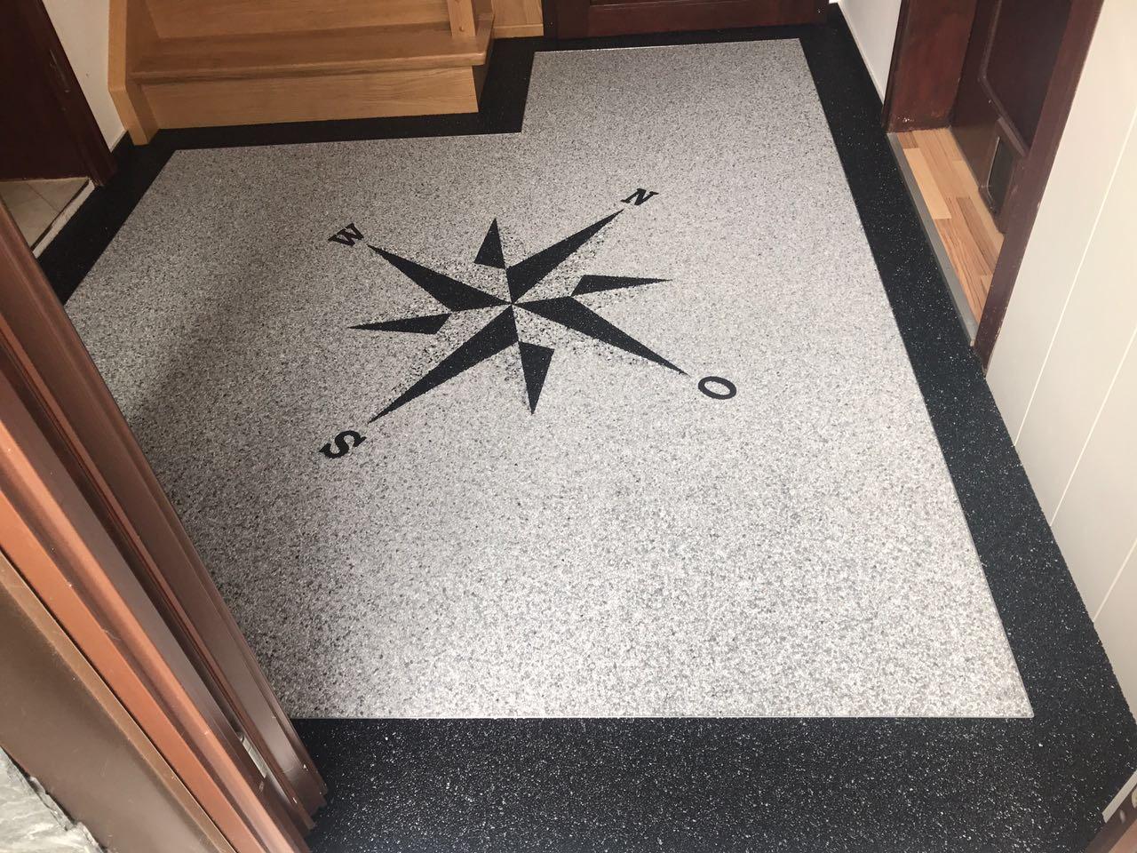 Ein schöner Stern mit Steinteppich