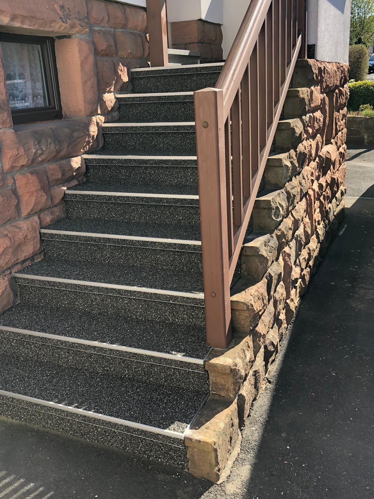 Steinteppich Hessen Treppensanierung