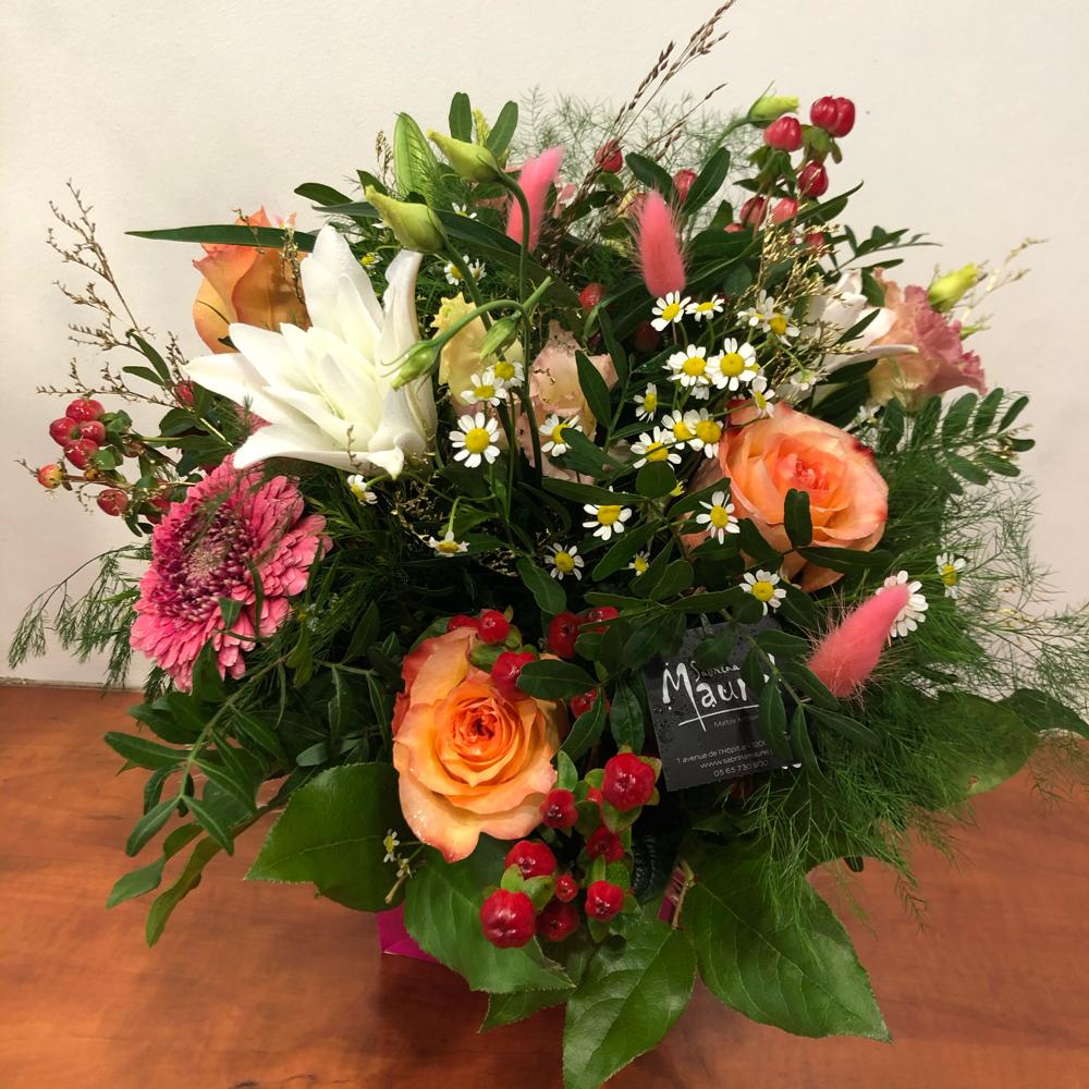 Bouquet rond en livraison