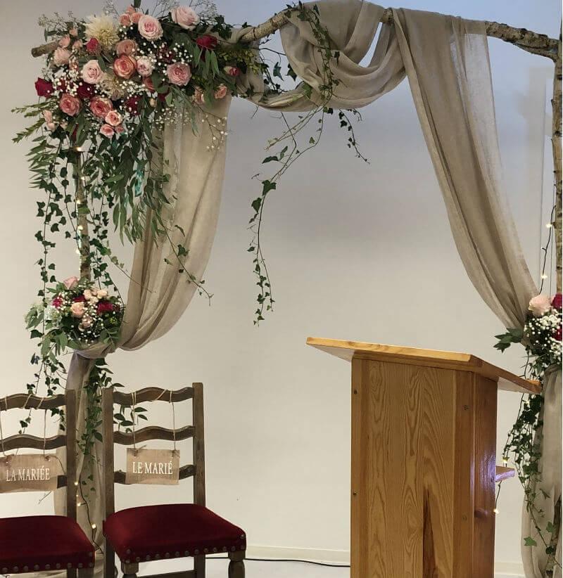 Décoration d'un arche pour un mariage Bohème