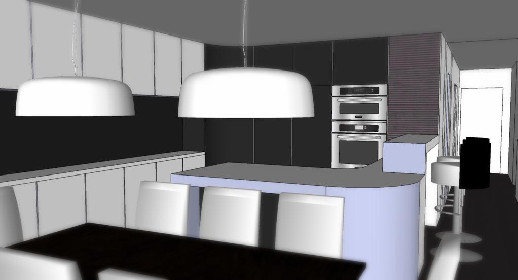 maison design d'inspiration florale - salle à manger