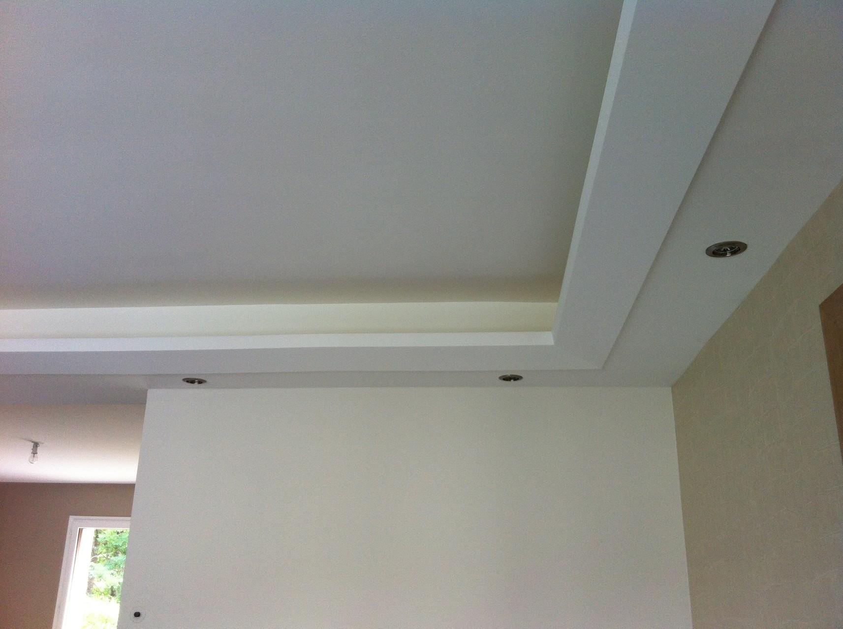 faux plafond lumineux, corniches