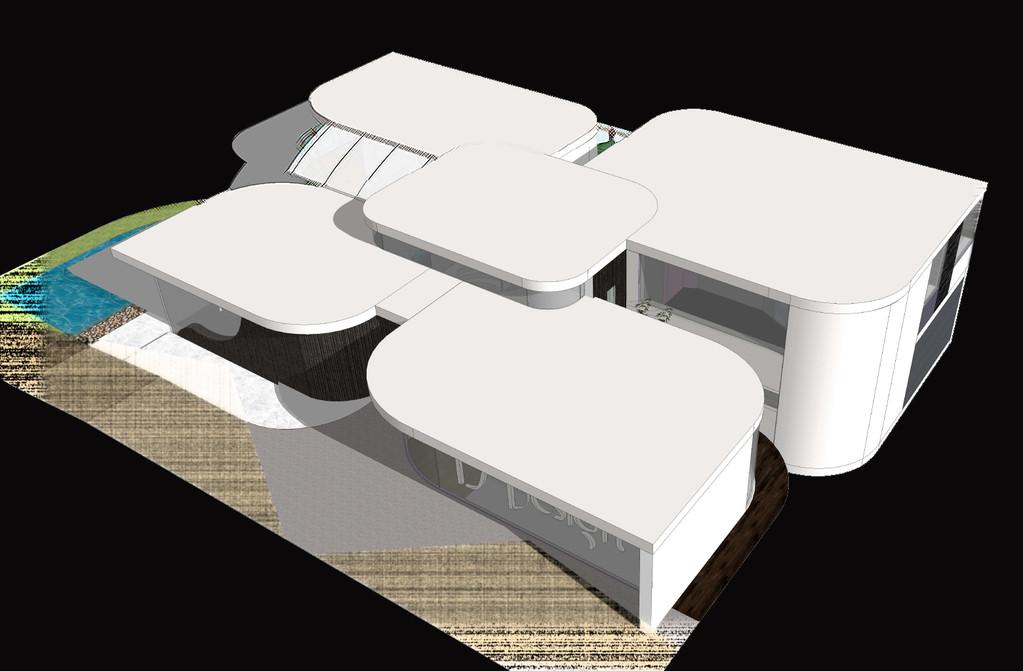 maison design d'inspiration florale (projet fictif)