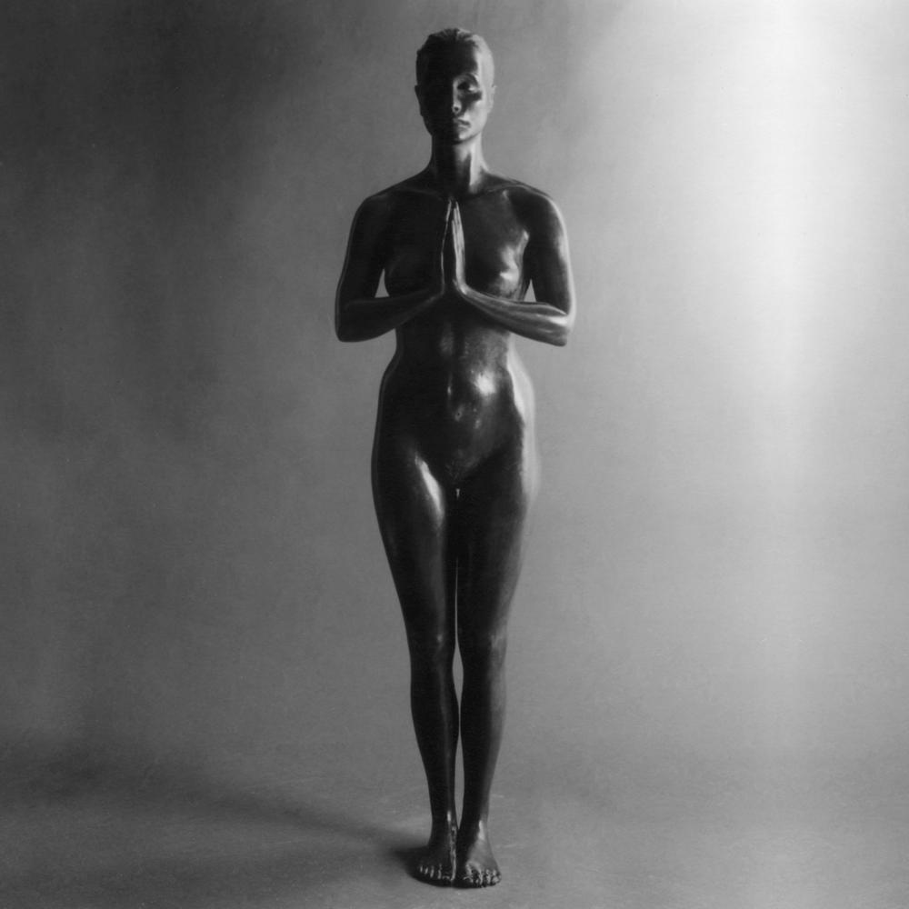 Sandra Lévy la Montagne (Tadasana) sculpture bronze