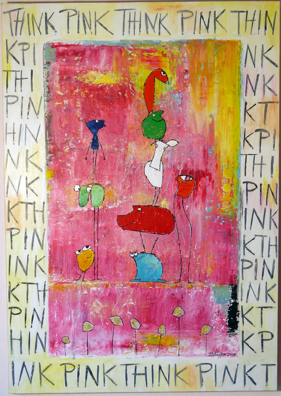 """Think Pink"" - 70x100cm"