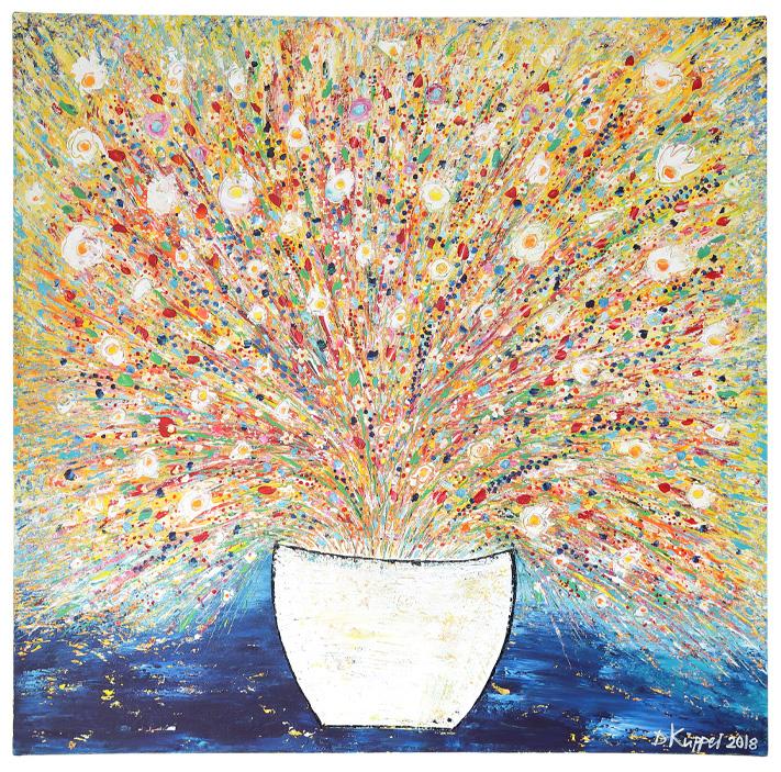 Blütenrausch - 100x100cm - 420 Euro