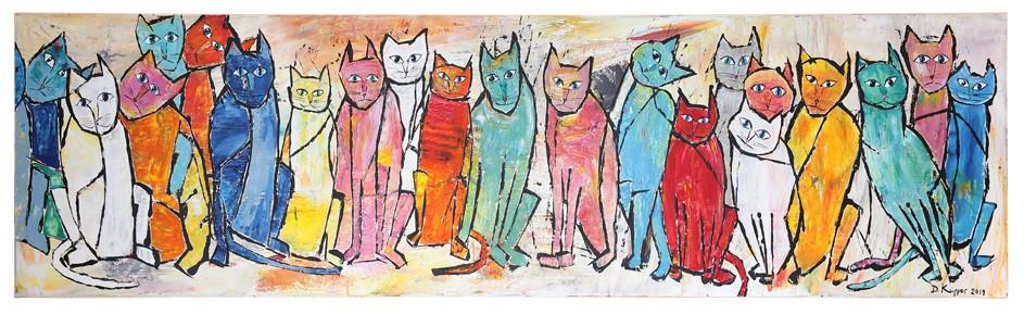 Cats - 40x140cm - 290 Euro - VERKAUFT