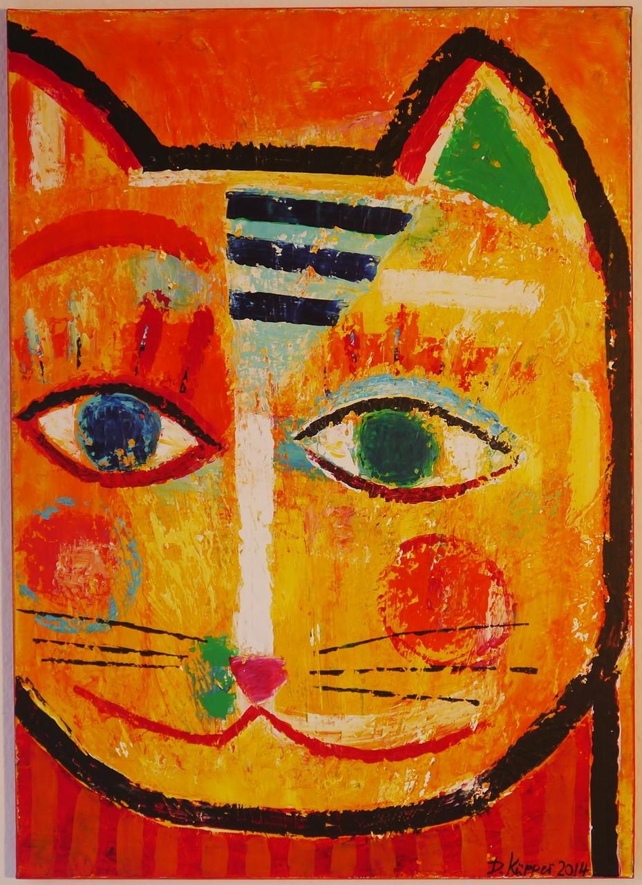 """""""Cat"""" - 50x70cm - Preis: 180 Euro"""