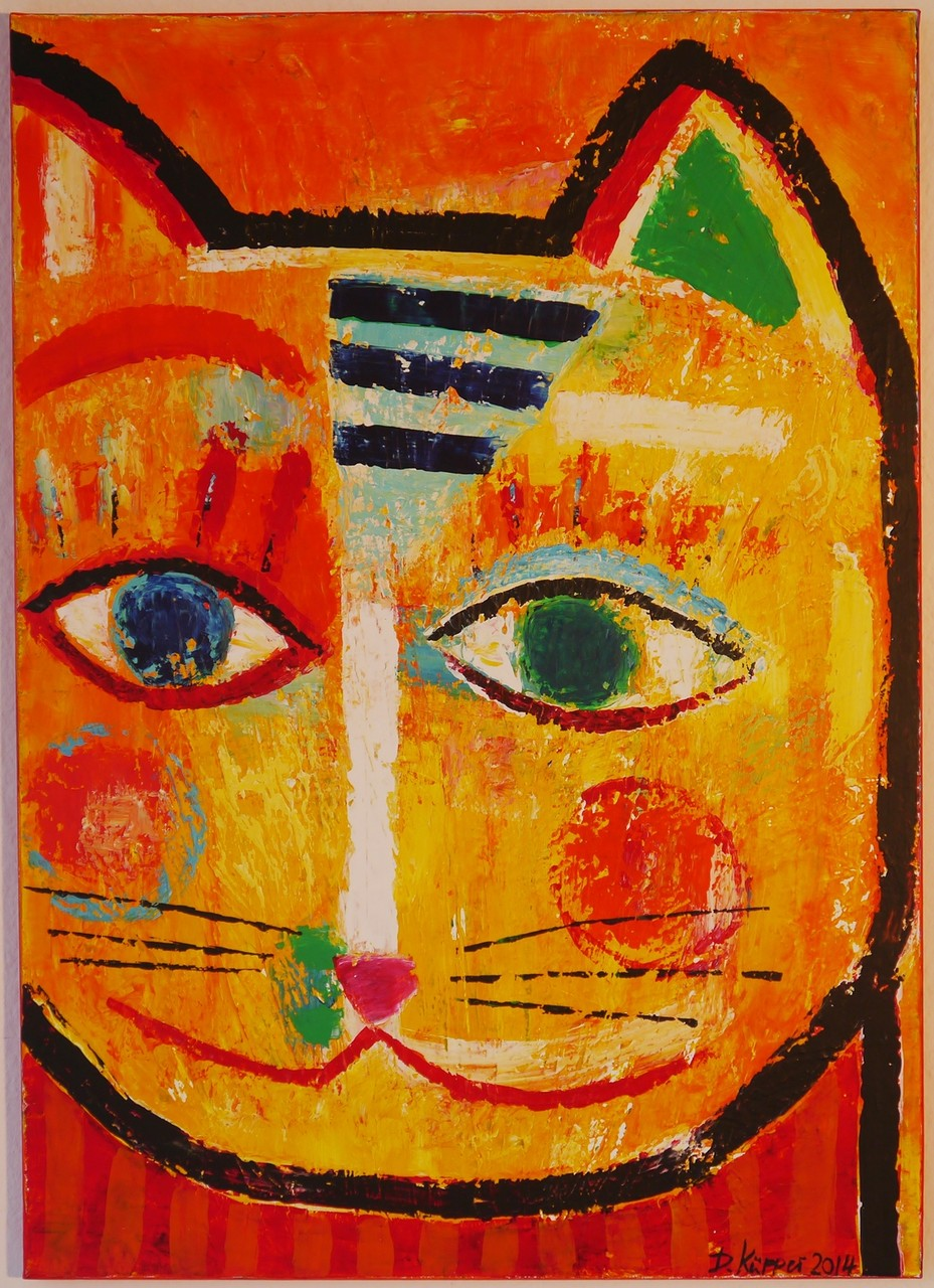 """""""Cat"""" - 50x70cm"""