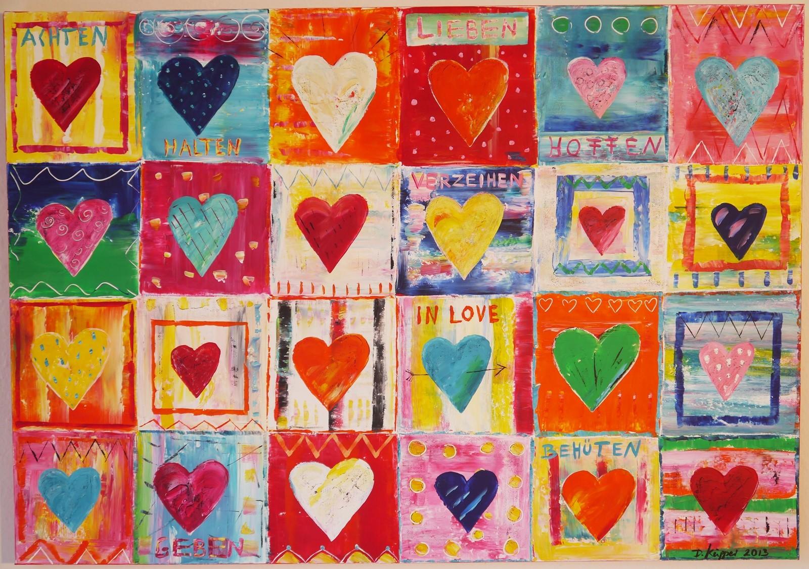 """""""So in Love"""" - 100x70cm - Preis: 320 Euro"""