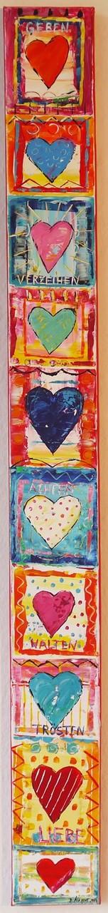 """Hearts"" 10x100cm - Preis: 95 Euro"